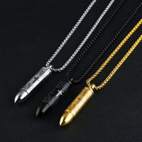 Stainless Steel Lord's Prayer Hollow , Cross Necklace Pendant Box Chain. - satisfaction-365.com