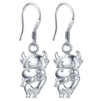 Silver Cow Earrings - satisfaction-365.com