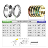 Stackable Gold Copper Inner Rings 4mm Width Interchangeable Band Accessories
