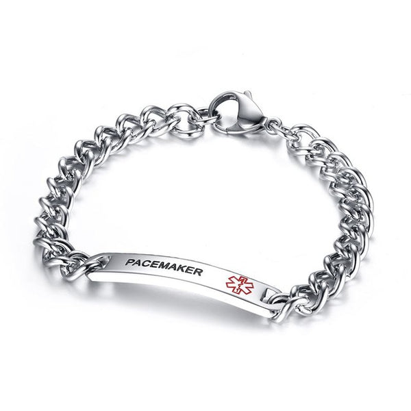 Stainless Steel 8MM Medical Symbol Alert ID Tag Bracelet . - satisfaction-365.com