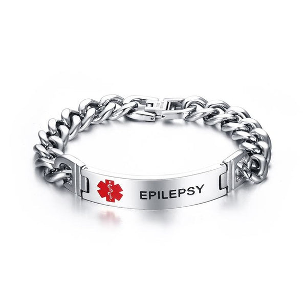 Stainless Steel Medical Alert ID Tag Bracelet . - satisfaction-365.com