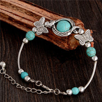 Retro Newest Vivid Butterfly Comfort Shape Design Modish Lady Woman Girl Natural Stone Bracelet - satisfaction-365.com