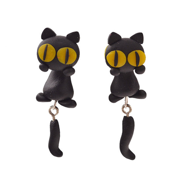 Handmade Cute Animal Cat Earrings For Women . - satisfaction-365.com