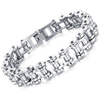 Men's Bracelets ,Motorcycle Chain  4 Color Stainless Steel . - satisfaction-365.com