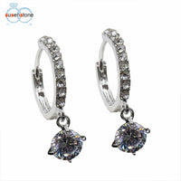 Plated Crystal Rhinestone Earrings . Very Nice !!! - satisfaction-365.com