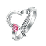 Love Heart Ring For Women Wedding Gifts Fine Jewelry .