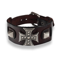 Cross Vintage Bracelet For Men Genuine Leather Wrap. - satisfaction-365.com
