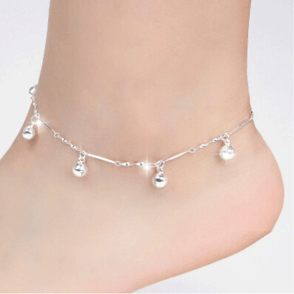 5 Bells Chain Ankle Bracelet Barefoot Sandal Jewelry - satisfaction-365.com