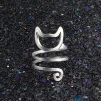 Cute Cat Black,Silver,Gold Ring Women - satisfaction-365.com