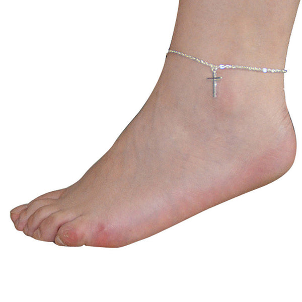 Women Cross Beach Anklet Chain Chain . - satisfaction-365.com