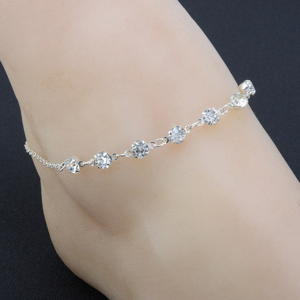 Silver Ankle Bracelet Adjustable Chain Beach Jewelry - satisfaction-365.com
