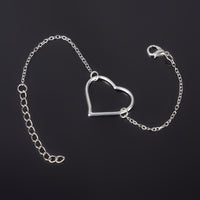 Silver Color Charm  Heart For Women . - satisfaction-365.com