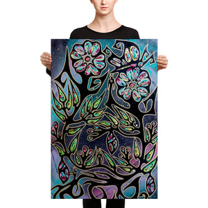 """Transformations Within the Roses"" Premium Canvas Print"