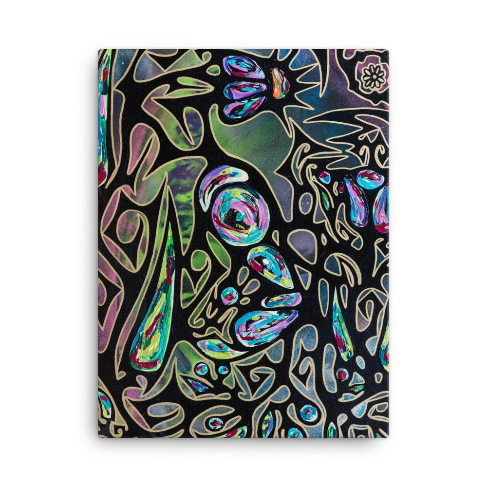 """Little Person Morphing Into A Butterfly"" Premium Canvas Print"