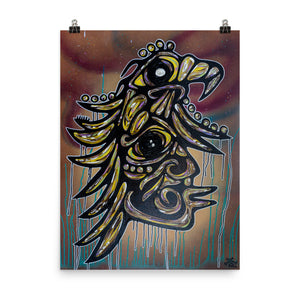 """WaubeGinew Nini / White Golden Eagle Man"" Print"