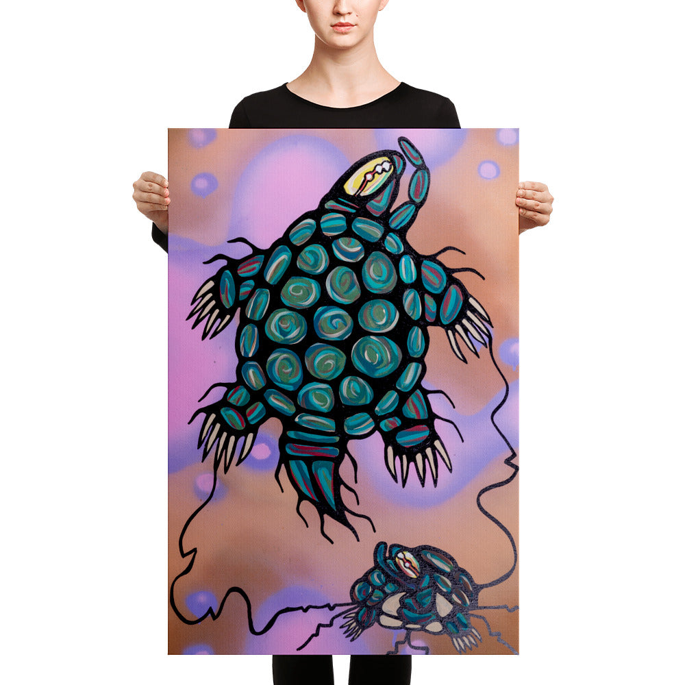 """MishiMakiinaak/The Great Turtle"" Premium Canvas Print"