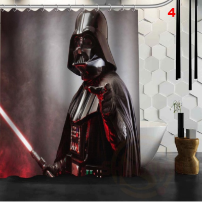 Star Wars Shower Curtain Bathroom Decor Waterproof