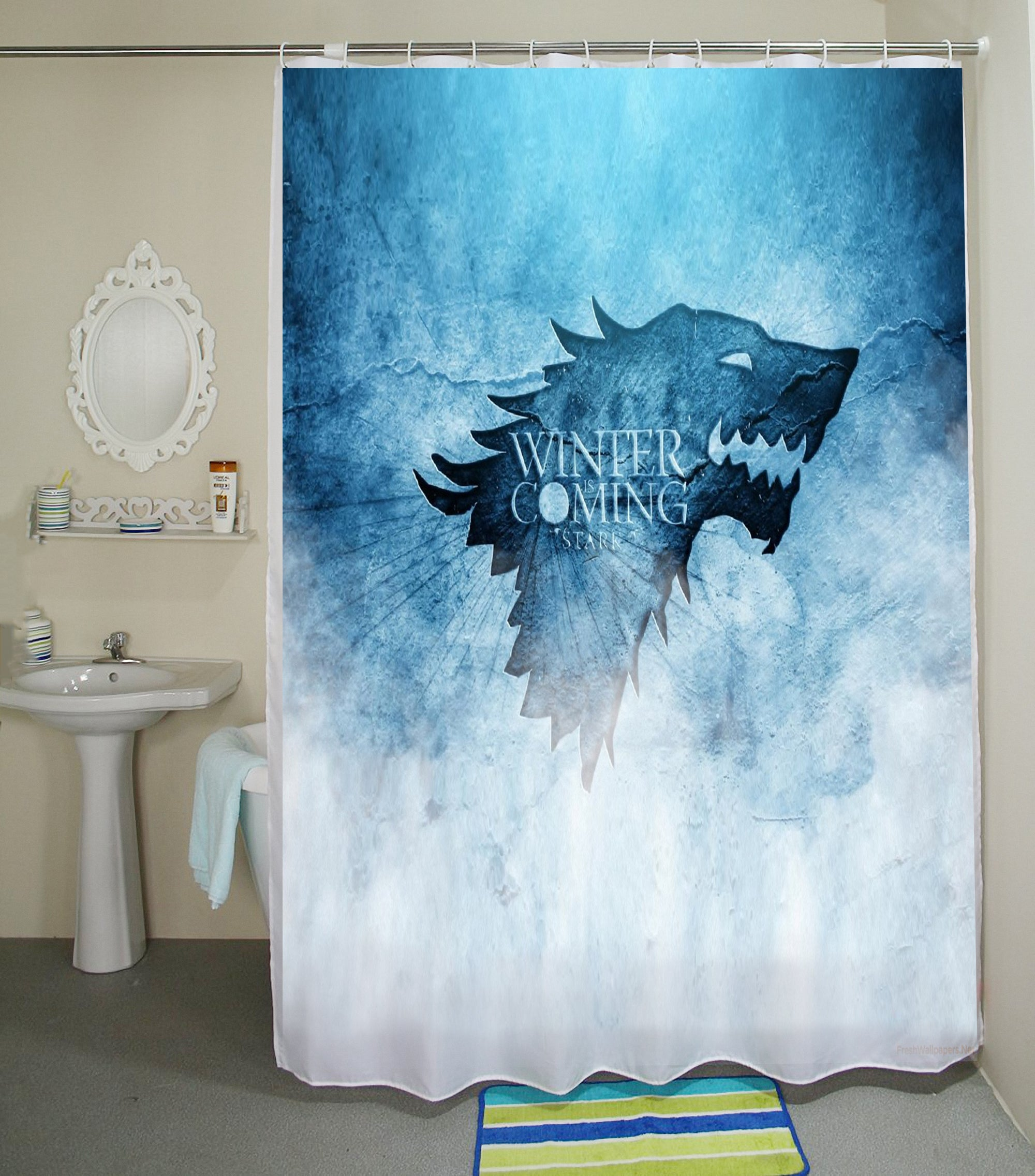 Game Of Thrones Shower Curtain Stank Winter Is Coming High Quality Waterproof Polyester Fabric