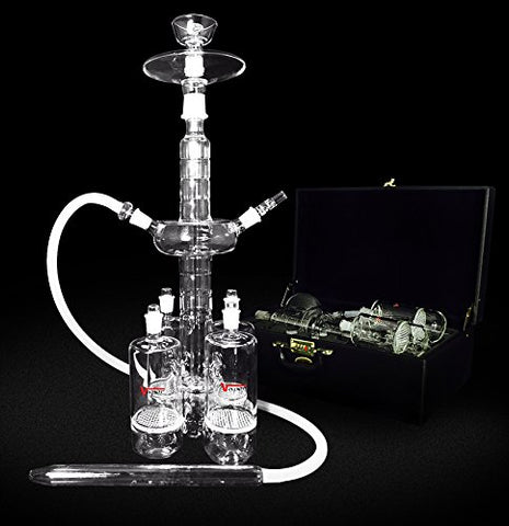 "The Titan IV Glass Hookah 25"" Tall"