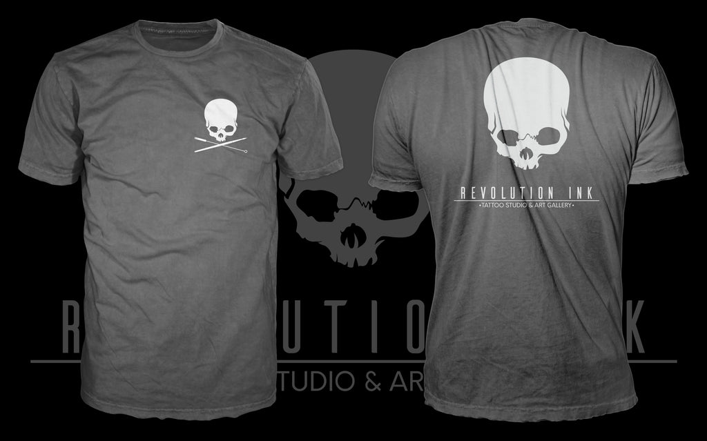 Revolution Ink Logo - Grey