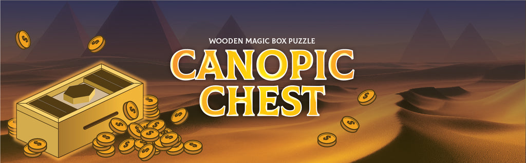 Secret Magic Box Monkey Puzzle Intelligence Cases Mystery Gift Case Boxes (CANOPIC Chest)