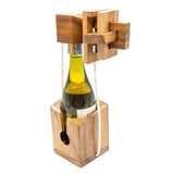 CCO Wooden Wine Bottle Puzzle Brain Teaser for Adults Game Mind Think