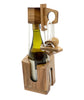 Riddle Rope Wine Bottle Puzzle - The  Wooden Wine Bottle Puzzle for Adults Brain Teaser