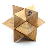 The Star Puzzle, Classic 3D Star Jigsaw Wooden Puzzle