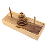 Hanoi Tower (7 Rings) The Wooden Brain Teaser Puzzles Games