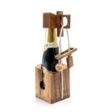 Think for Drink - Wooden Wine bottle puzzle brain teaser wooden puzzles