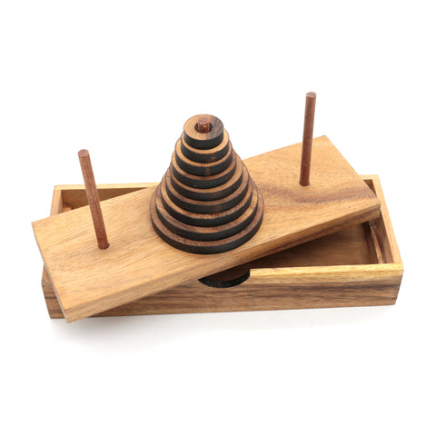 Towers of Hanoi 9 Rings Wooden game