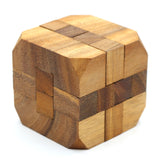 The Wooden Diamond Cube Puzzle of Brain Teaser to Mind Challenging