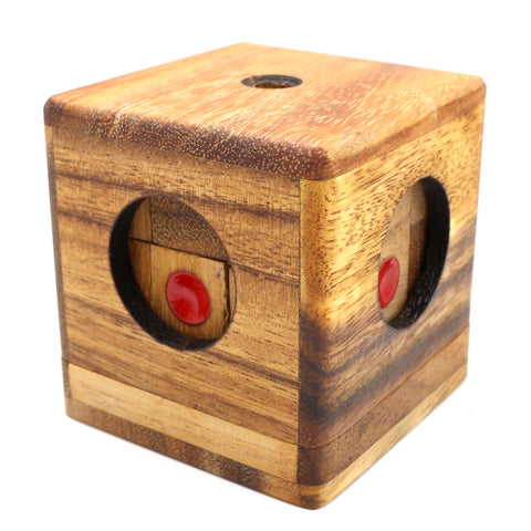 The Domino Cube Brain Teaser Wooden Puzzles
