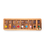 Shut the Box Slide Wooden Game for Brain Teaser Puzzle of Children and Adults