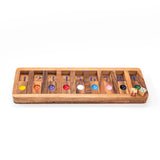 Shut the Box Slide Wooden Brain Teaser Puzzles Games