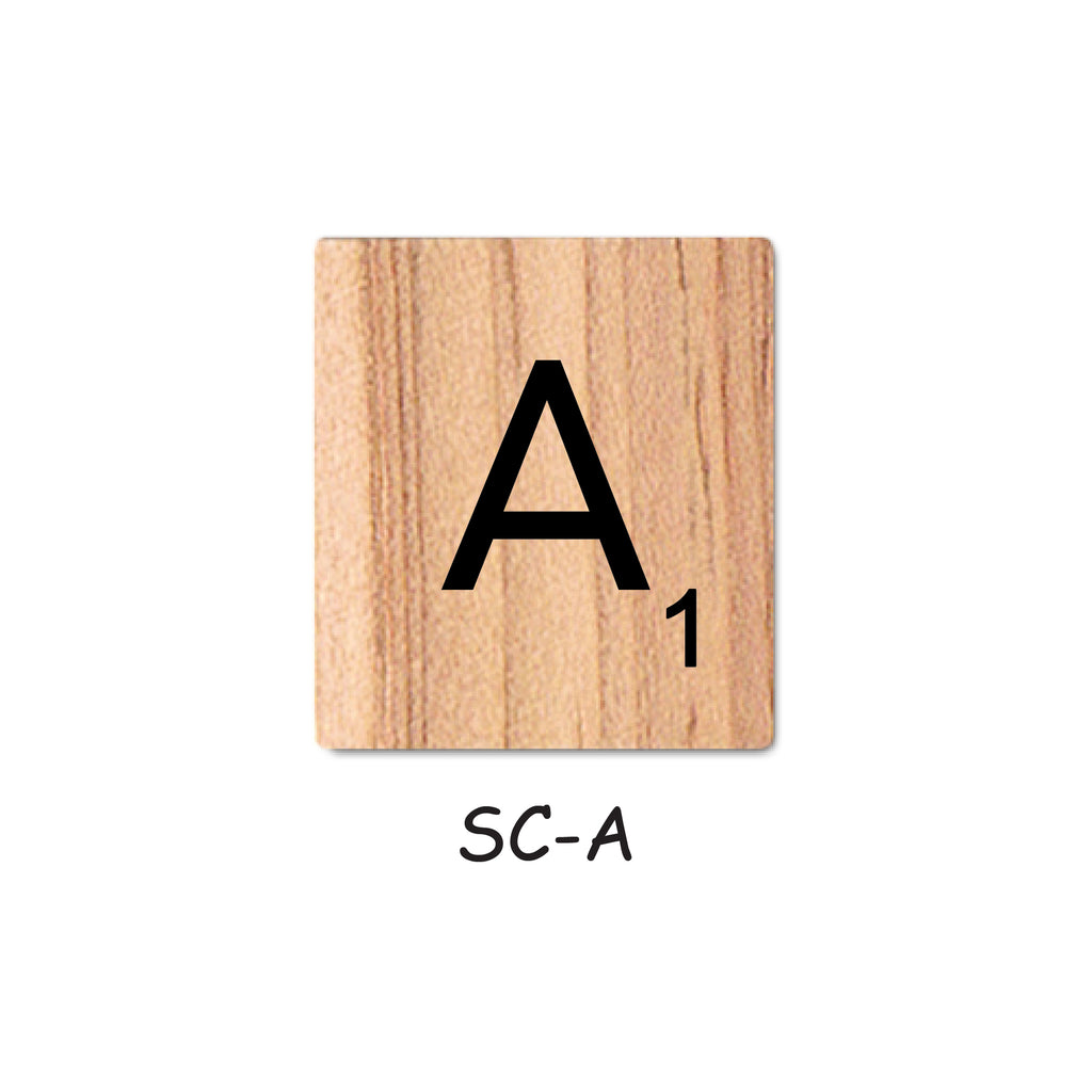 Letter A Wooden Scrabble Tiles for Crafts Designs and Mini Artworks