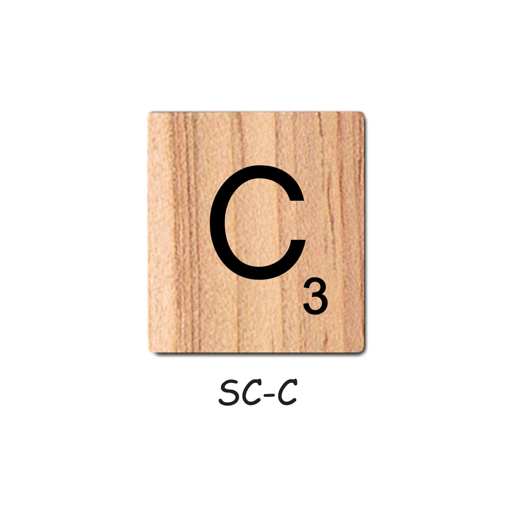 Letter C Wooden Scrabble Tiles for Crafts Designs and Mini Artworks