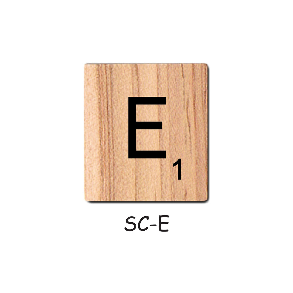 Letter E Wooden Scrabble Tiles for Crafts Designs and Mini Artworks