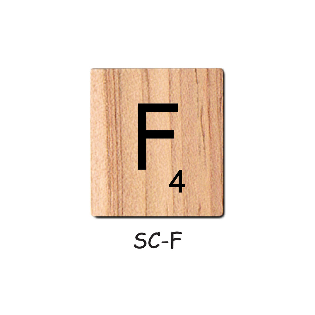 Letter F Wooden Scrabble Tiles for Crafts Designs and Mini Artworks