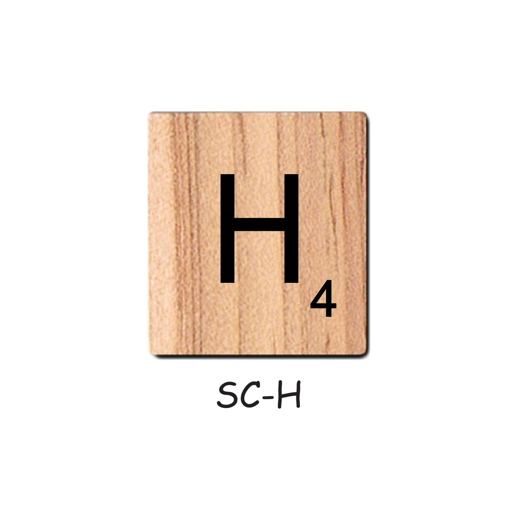 Letter H Wooden Scrabble Tiles for Crafts Designs and Mini Artworks