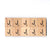 Letter J Wooden Scrabble Tiles for Crafts Designs and Mini Artworks