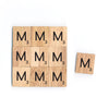 Letter M Wooden Scrabble Tiles for Crafts Designs and Mini Artworks