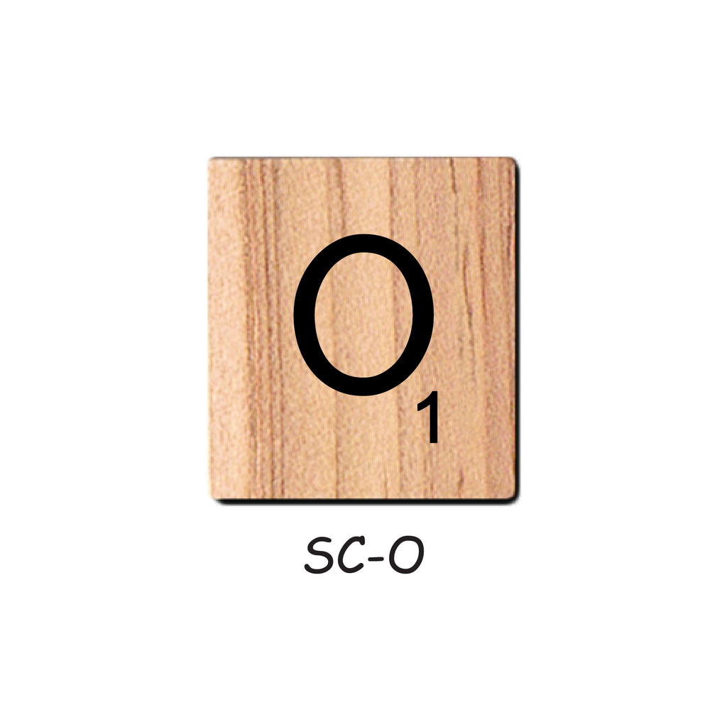 Letter O Wooden Scrabble Tiles for Crafts Designs and Mini Artworks