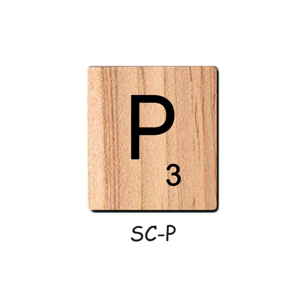 Letter P Wooden Scrabble Tiles for Crafts Designs and Mini Artworks
