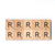 Letter R Wooden Scrabble Tiles for Crafts Designs and Mini Artworks