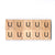 Letter U Wooden Scrabble Tiles for Crafts Designs and Mini Artworks