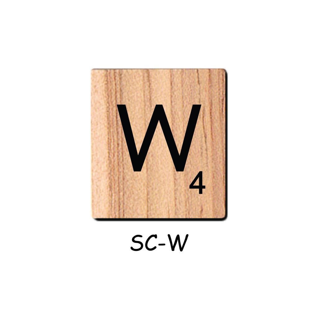 Letter W Wooden Scrabble Tiles for Crafts Designs and Mini Artworks