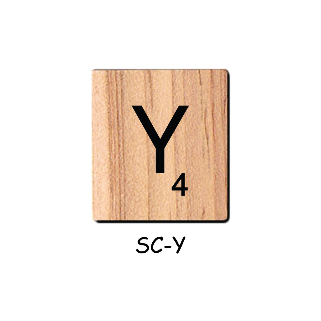 Letter Y Wooden Scrabble Tiles for Crafts Designs and Mini Artworks