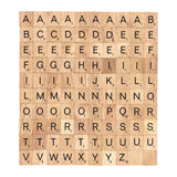 Wooden Scrabble tiles complete set 100 pcs