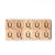 Letter Ú Wooden Scrabble Tiles for Crafts Designs and Mini Artworks